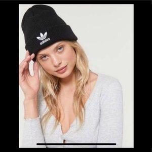 Adidas Black and White Beanie